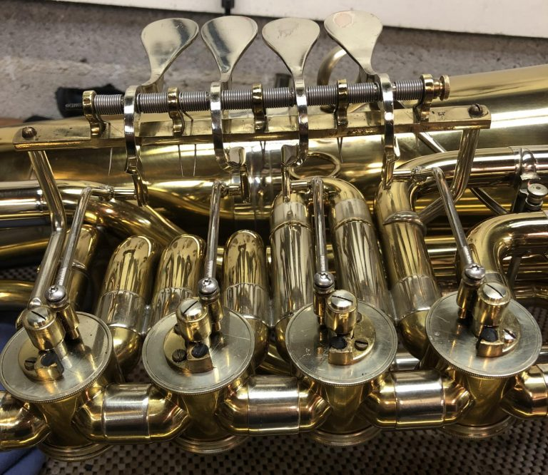B & S F Tuba Lever Linkage Conversion after repair