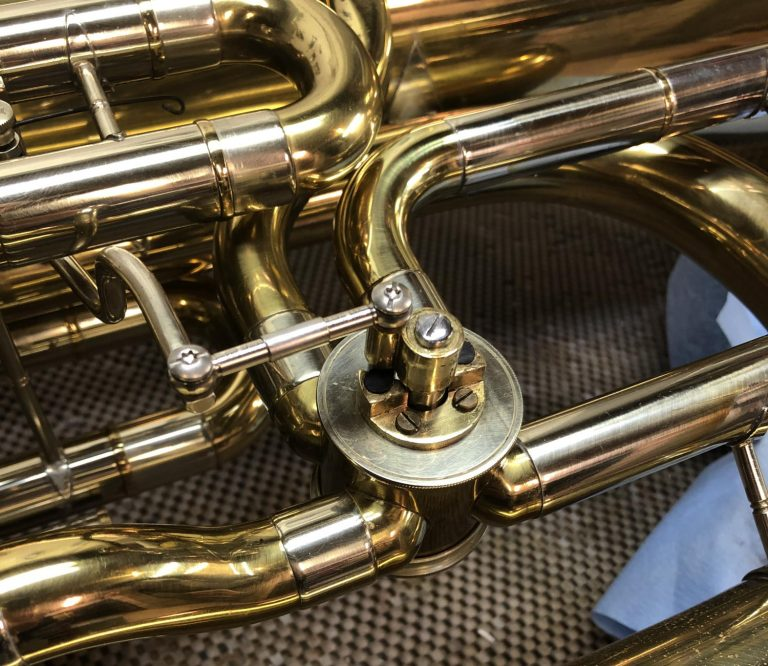 B&SF Tuba 5th Lever Linkage Conversion after repair